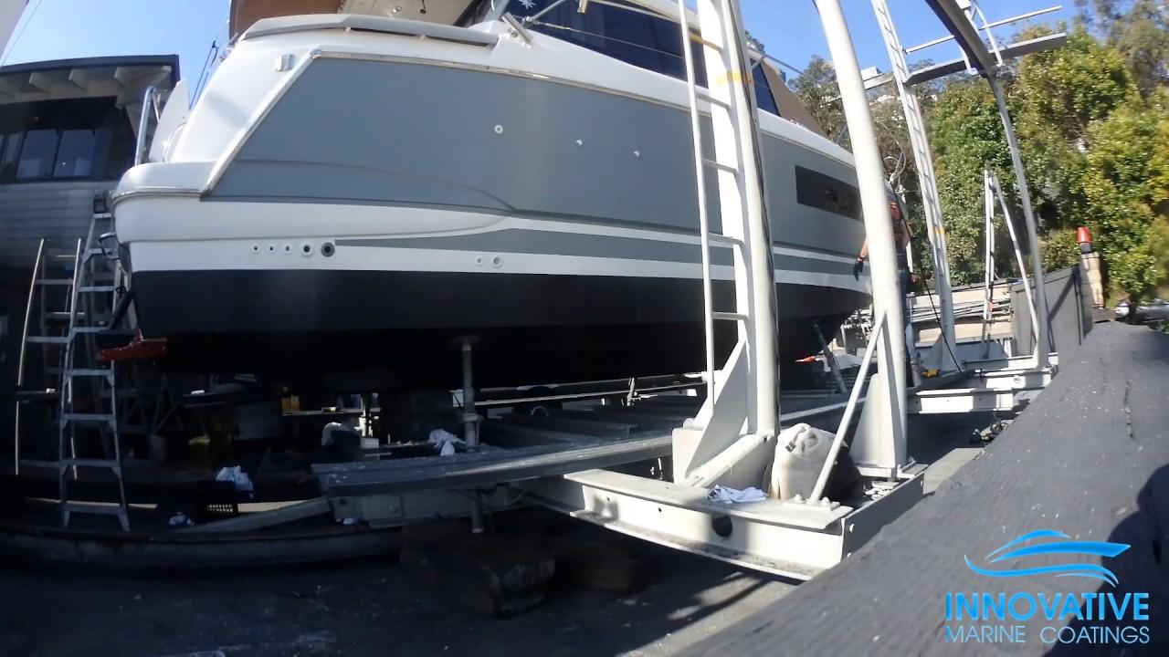 Vinyl Boat Wrap - Jeanneau NC9 in 3M Battleship Grey