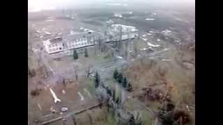 Реальная война!!! Съёмка с беспилотника. 13 января 2015 г.