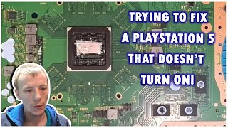 Trying To Fix A PlayStation 5 PS5 Not Turning On After HDMI Port Replacement