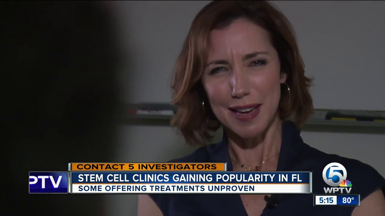 There's a problem with stem cell therapy in Florida