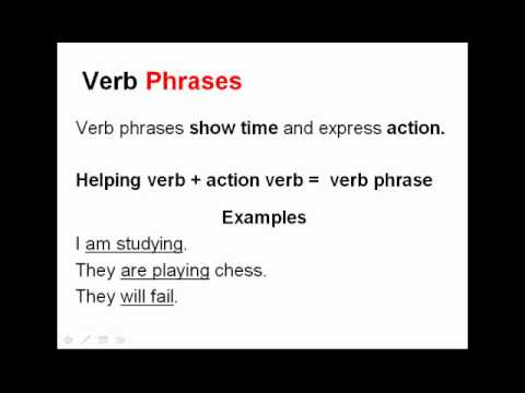 Verb Phrases And Gerunds  English Grammar Lesson Parts Of Speech  Youtube