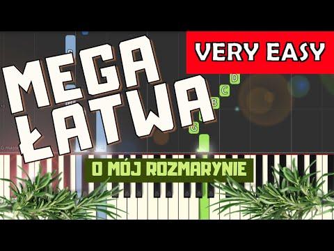 🎹 O mój rozmarynie - Piano Tutorial (MEGA ŁATWA wersja) 🎹