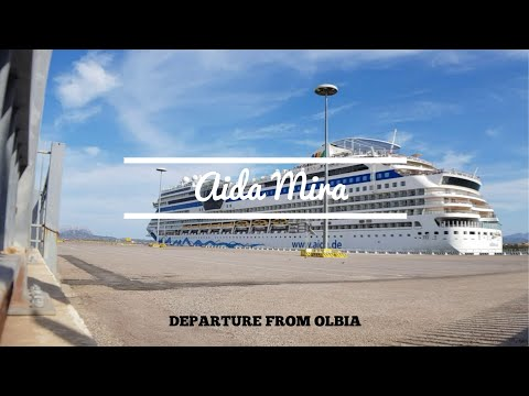 "Departure Of Cruise Ship ""AidaStella"" From Olbia 