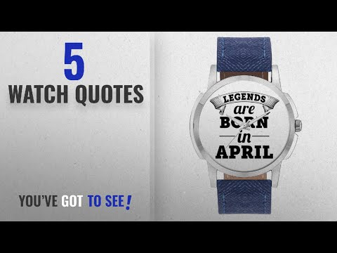 Top 10 Watch Quotes [2018]: Wrist Watch for Men - BigOwl Legends Are Born In April Unique Branded
