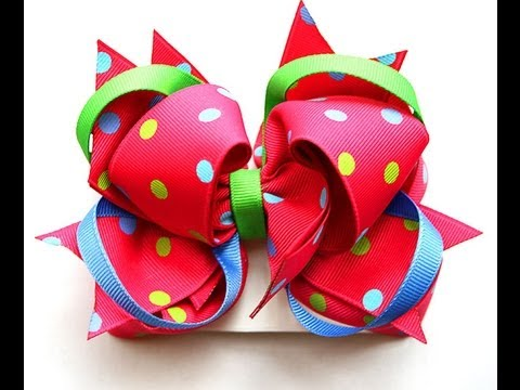 How to make the TWISTER aka 2 loop topper hairbow TUTORIAL