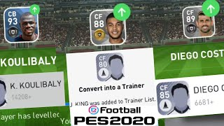NEW TRAINING METHOD To Max Players Level | PES 2020 Mobile