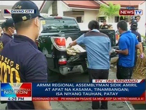 BP: ARMM Regional Assemblyman Sidik Amiril at apat na kasama, tinambangan; isa niyang tauhan, patay