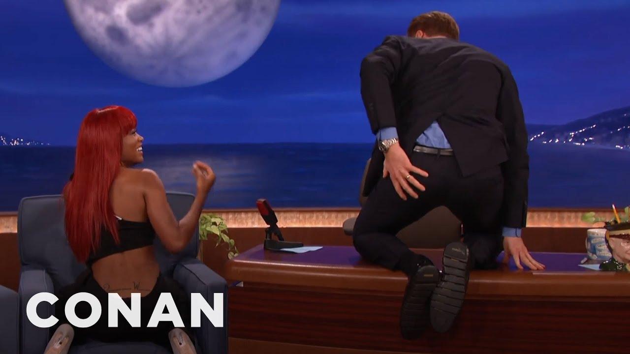 Download Keke Palmer Teaches Conan How To Isolate His Butt Cheeks   CONAN on TBS