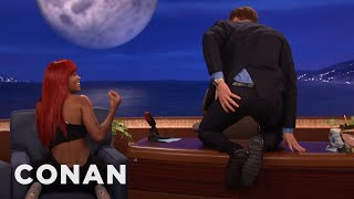 Keke Palmer Teaches Conan How To Isolate His Butt Cheeks  - CONAN on TBS