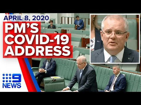 Coronavirus: Morrison addresses parliament on COVID-19 | Nine News Australia