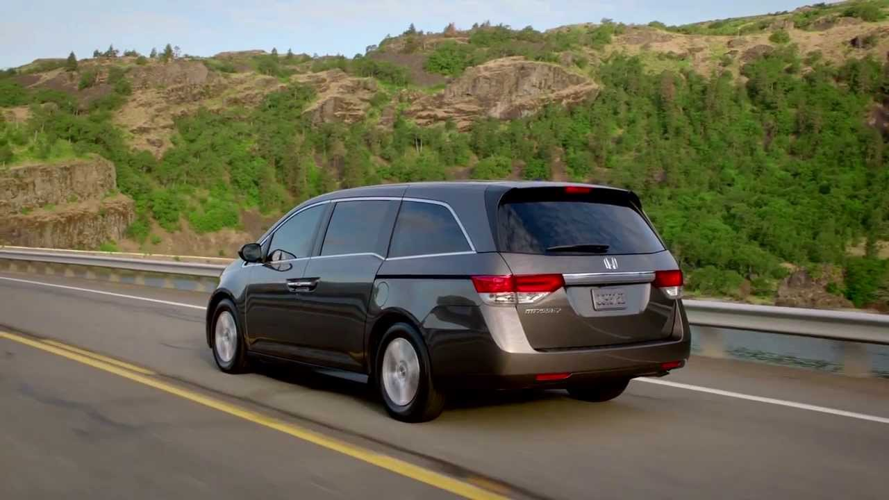 2014 honda odyssey ex l smokey topaz metallic   driving video