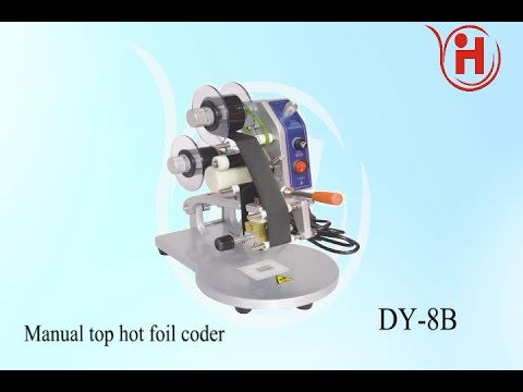 Manual top hot foil coder,date printing on label,Ribbon Coding Machine