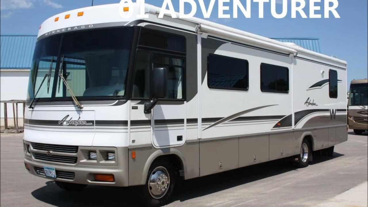 Motorcoach For Sale >> Used 2001 Winnebago Adventurer 35U Class A Motorhome for Sale - YouTube