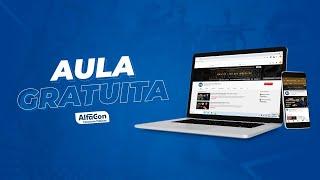 aula gratuita língua portuguesa para os editais abertos ao vivo alfacon concursos públicos