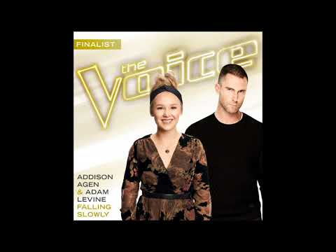 Addison Agen & Adam Levine - Falling Slowly - Studio Version - The Voice 13