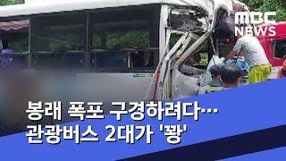 봉래 폭포 구경하려다…관광버스 2대가 '꽝' (2019…