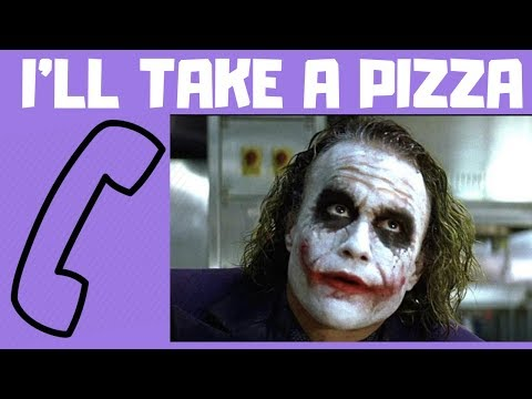 prank call: pizza order by JOKER