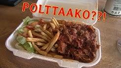 Ruokatesti: Kuusankosken Roni Kebab Ranskalaiset Tulinen kastike