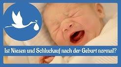 Nach der Geburt: Ist Niesen und Schluckauf nach der Geburt normal?