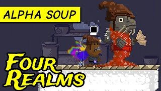Four Realms gameplay: Fairytale RPG platformer (PC alpha demo game)