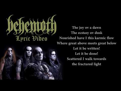 Behemoth - Ov Fire And The Void (LYRICS / LYRIC VIDEO)