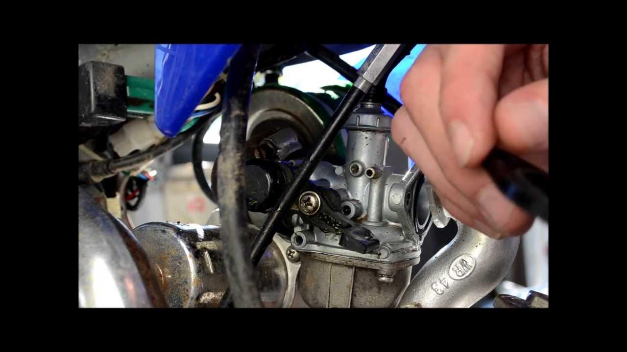125cc pit bike carby service  YouTube