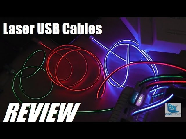 REVIEW: Cubilux LASER Illuminated USB Cables?! YouTube