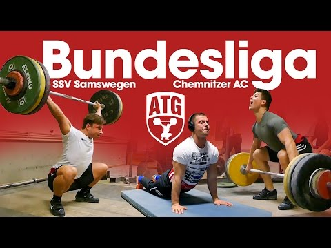 Bundesliga Weightlifting Full Session with Max Lang, Lukasz Grela SSV Samswegen vs Chemnitzer AC
