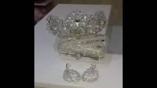 Корона для невесты с сережками корона диадема ободок тиара невеста свадьба ruana_jewelry instagram