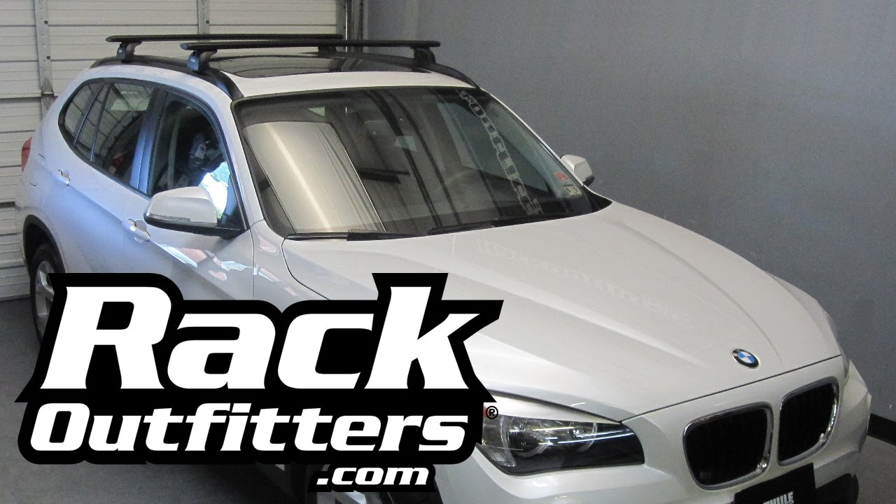 Bmw X1 Thule Rapid Podium Black Aeroblade Base Roof Rack