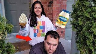 Mayonnaise Cupcake Joke On my DAD! family fun video