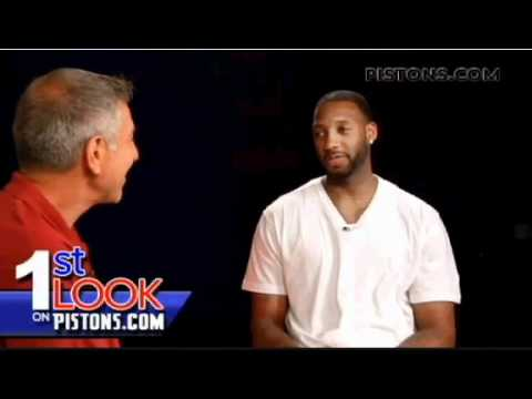 Tracy McGrady's first interview with the Detroit Pistons - YouTube