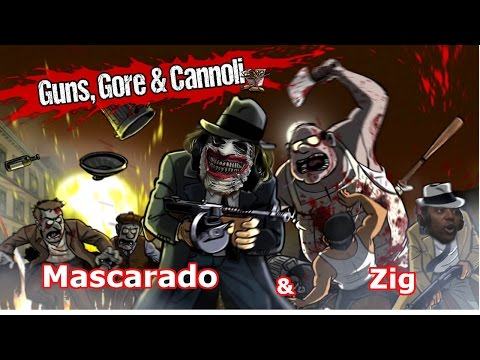 "Mafiosos, Zumbis, Zig e Mascarado ""Great Combination"" - Guns, Gore And Canoli [PS4] Omega Play"