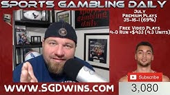 MLB Picks Today July 22nd Expert Sports Betting Predictions 7-22-19 Sports Gambling Daily