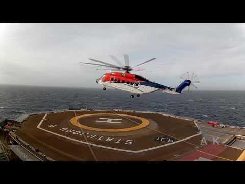 Hjemreise offshore fra STATFJORD B