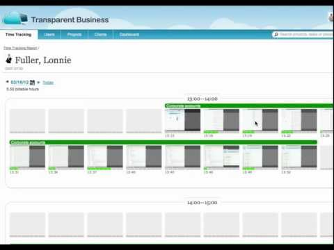 Workforce Monitoring with TransparentBusiness