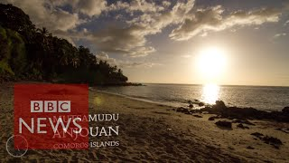 Time-lapse of star constellations over Comoros Islands - BBC News