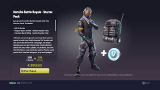 BUYING FORTNITE BATTLE ROYALE STARTER PACK| NEW ROUGE SKIN/650 V-BUCKS| HOW TO WIN A FREE STARTER PACK