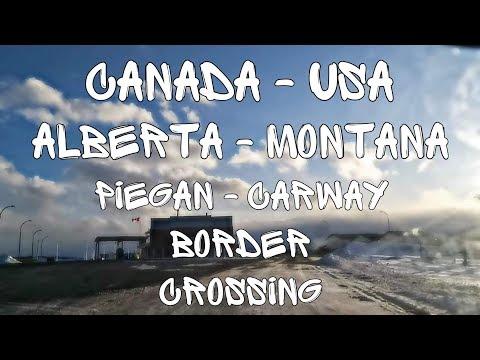 Alberta-Montana, Canada-USA, Carway-Piegan Border Crossing