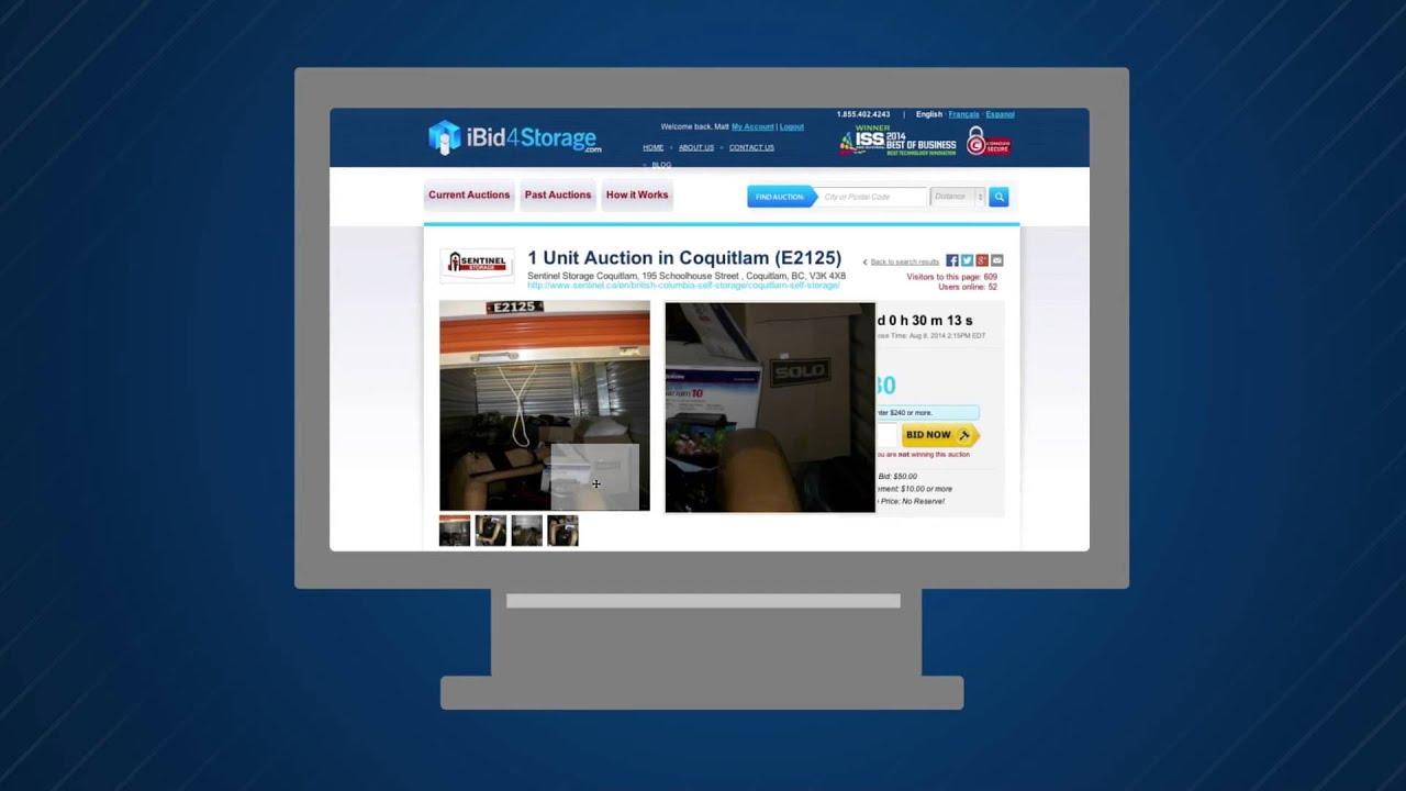 Bid Online on Storage Auctions across North America