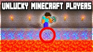 Minecraft: 15 MOST UNLUCKY PLAYERS YOU WON'T BELIEVE! (Minecraft Funny Moments)