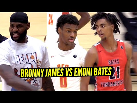 Download Bronny James & Emoni Bates GO AT IT w/ LeBron Watching!! Most HYPED Game of EYBL