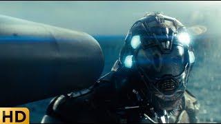 Расстрел пришельца из корабельной гаубицы. Морской бой.