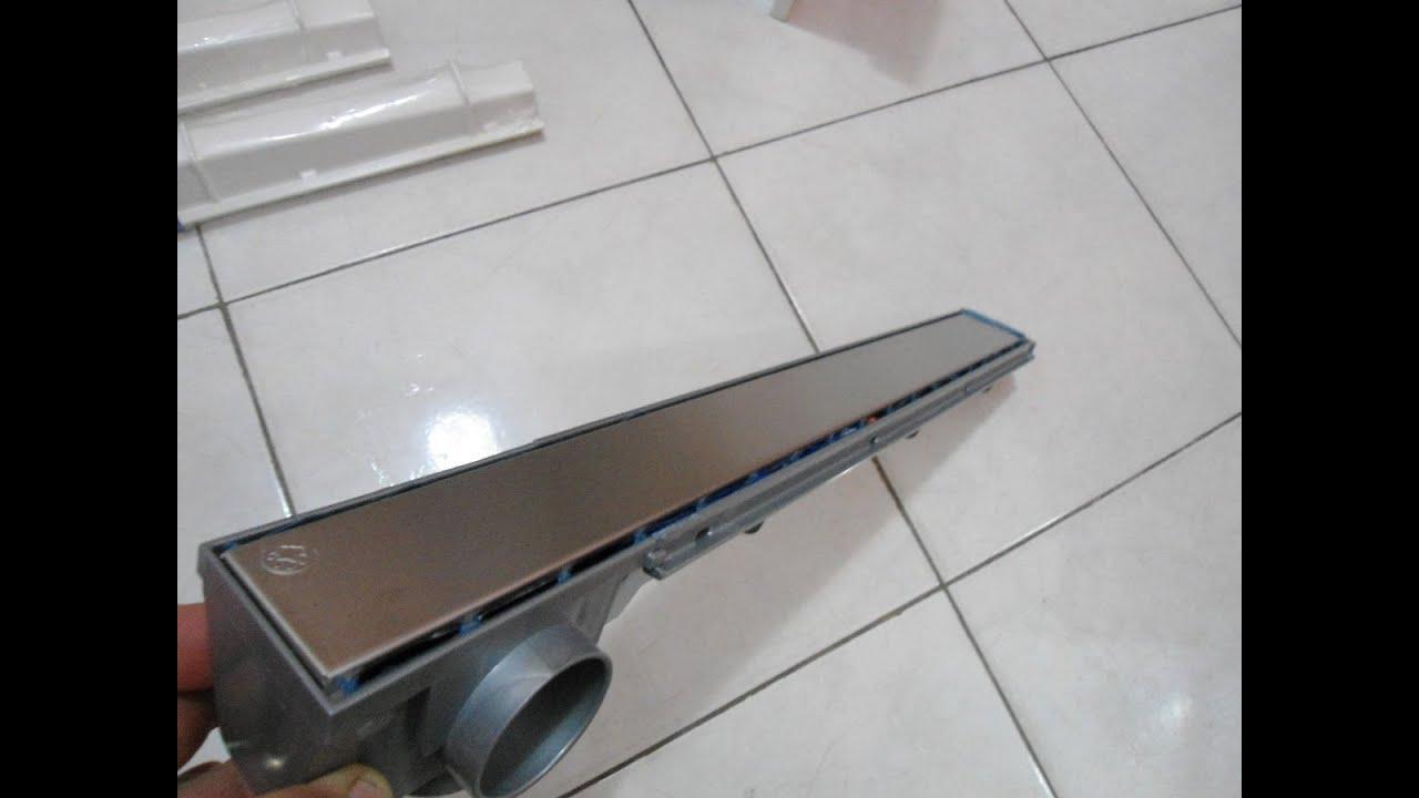 caixa sifonada por ralo linear em banheiro de apartamento   #424E5B 1200x900 Banheiro De Apartamento Entupido