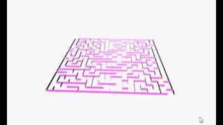 Satunnainen sokkelo 3d webgl / Random Maze WebGL