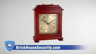 Motion-activated Hidden Mantle Clock Is Completely Covert With Automatically Day To Nightvision