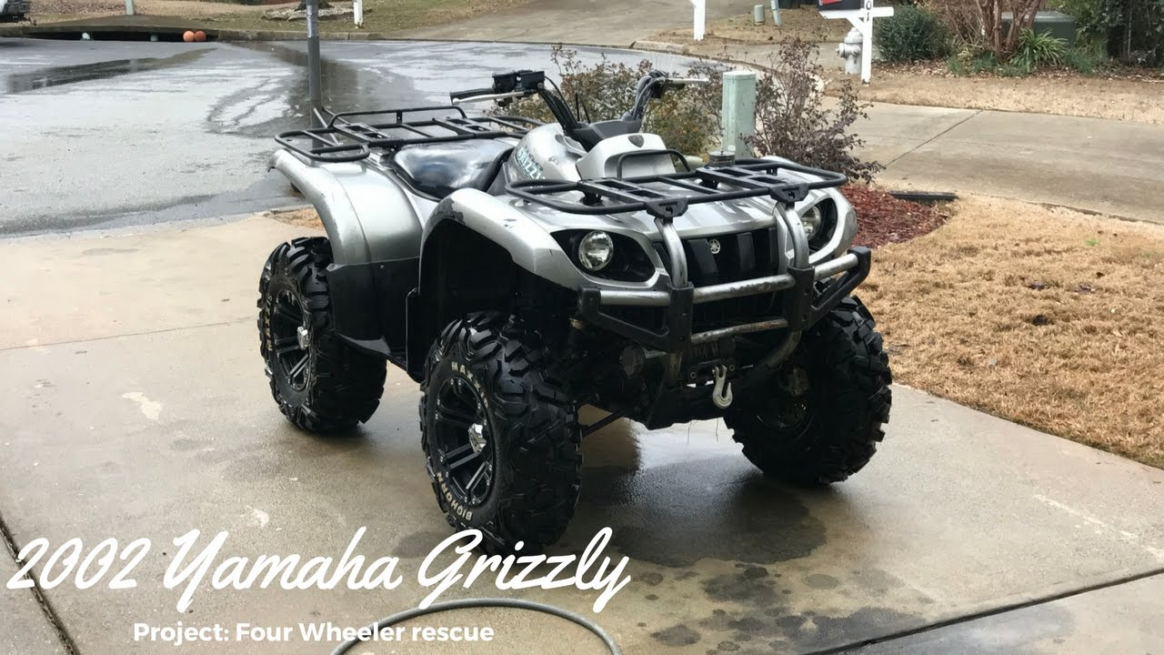 medium resolution of 2002 yamaha grizzly 660 project four wheeler rescue