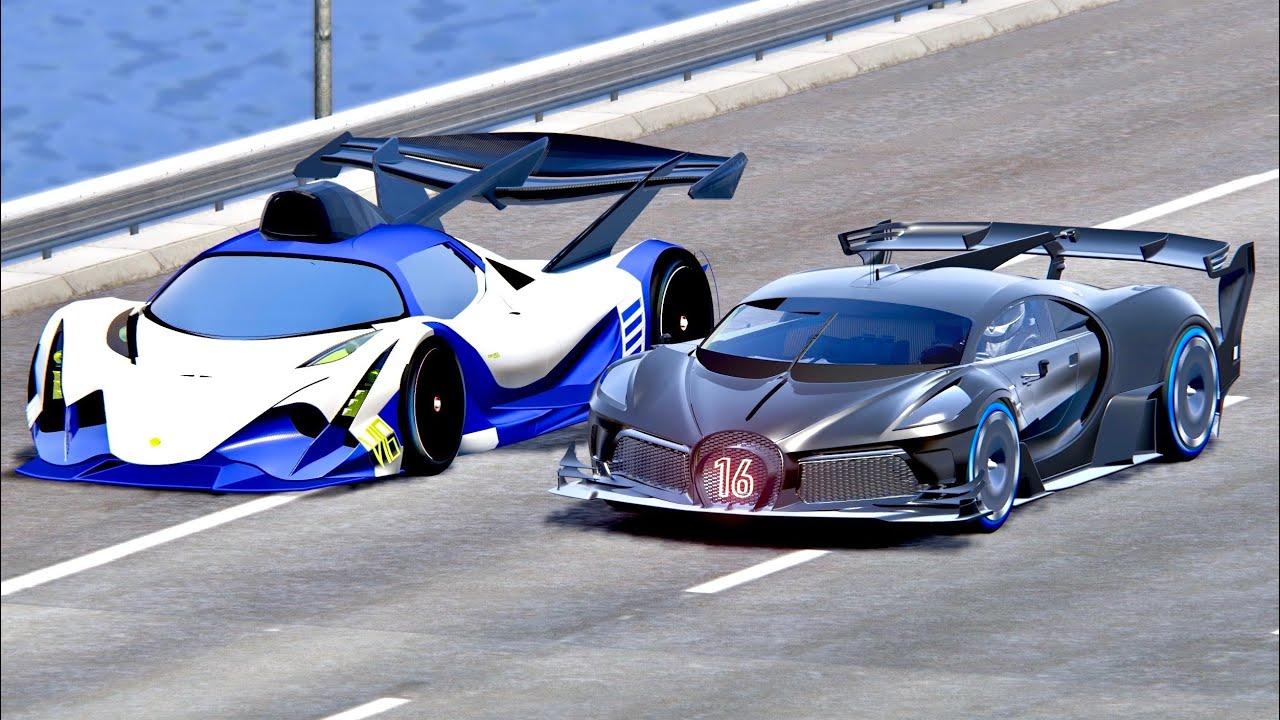 Bugatti Black Devil Vgt Vs Devel Sixteen Gtr Drag Race 20 Km Youtube