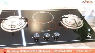 TDM.VN | Review bếp gas Malloca EG 201C kết hợp 1 bếp điện hồng ngoại mặt kính Eurokera