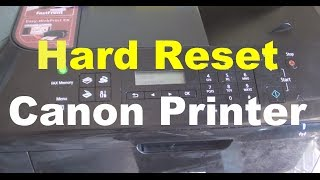 How to Hard Reset Canon Printer Error